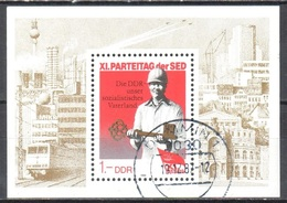 DDR 1986 - Mi.ms 83 - Used - Gestempelt - [6] Democratic Republic