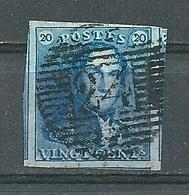 Nr 2 (gerand + 3 Buren) Gestempeld P 24 BRUXELLES - Cote 60,00 - 1849 Epaulettes