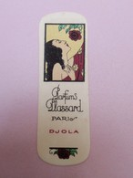 RARE CARTE PARFUMEE Ancienne DJOLA Pour Parfums PLASSARD - Perfume Cards