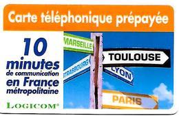 CARTE-n-PREPAYEE-LOGICOM-DIGICALL-10Mn--UTILISE-TBE - France