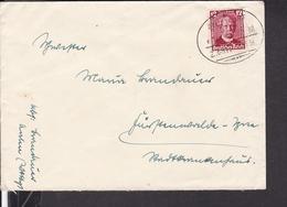 """Brief Deutsches Reich Bahnpoststempel """" Stuttgart - Ulm """" 1936 - Deutschland"""
