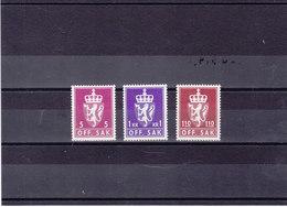 NORVEGE 1980 SERVICE Yvert 104-106 NEUF** MNH Cote : 5 Euros - Service