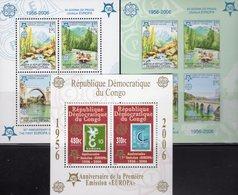 CEPT 2005 CONGO Block 250A+Bosnien-Mostar Blocks 13A+B ** 90€ Hojita Blocs Stamps On Stamp Map Sheets M/s Bf EUROPA - Europa-CEPT