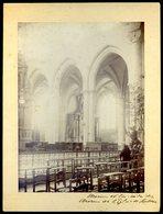 Grande Photographie Albuminée Circa 1880 Originale Du 35 Redon Choeur Et Bas Côté Des Choeurs De L' église KX - Photos