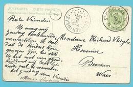 83 Op Kaart Met Stempel ST-NICOLAAS D Als Aankomst BEVEREN (WAAS) (28mm) - 1893-1907 Armoiries