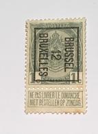 1912 1c Brussel - Typo Precancels 1906-12 (Coat Of Arms)
