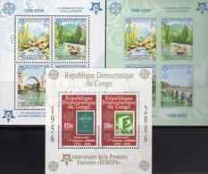 CEPT 2005 CONGO Block 252A+Bosnien-Mostar Blocks 13A+B ** 90€ Hojita Blocs Stamps On Stamp Map Sheets M/s Bf EUROPA - Europa-CEPT