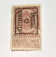 1912 - 2c Brussel - Typo Precancels 1906-12 (Coat Of Arms)