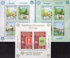 CEPT 2005 CONGO Block 253A+Bosnien-Mostar Blocks 13A+B ** 90€ Hojita Blocs Stamps On Stamp Map Sheets M/s Bf EUROPA - Europa-CEPT