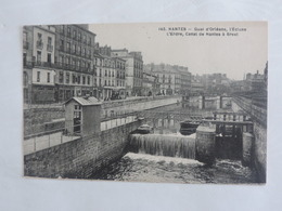 Nantes - Quai D'Orléans, L'Ecluse L'Erdre, Canal De Nantes à Brest  Ref 1503 - Nantes