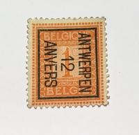1912 Staande Leeuw - Antwerpen - Vorfrankiert