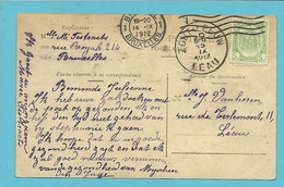 83 Op Kaart Als Aankomst Stempel ZOUT-LEEUW /LEAU  (28mm) - 1893-1907 Armoiries