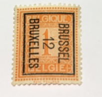1912 - Staande Leeuw Brussel - Typo Precancels 1912-14 (Lion)
