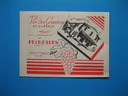 (1947) Coopérative De PEYROLLES (Bouches-du-Rhône) - Vin Des Graviers De Durance - Pubblicitari