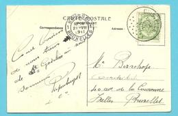 83 Op Kaart Met Stempel GHISTELLE (28mm) - 1893-1907 Coat Of Arms