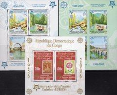 CEPT 2005 CONGO Block 251A+Bosnien-Mostar Blocks 13A+B ** 90€ Hojita Blocs Stamps On Stamp Map Sheets M/s Bf EUROPA - Europa-CEPT