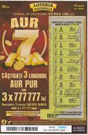 MOLDOVA   MOLDAVIE   MOLDAWIEN  MOLDAU ,  2018 ,  Lottery Tichet , Used - Lottery Tickets