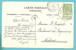 83 Op Kaart Met Stempel BORGT-LOMBEKE (28mm) - 1893-1907 Coat Of Arms