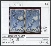Australien - Australia - Australie - Michel 267 Paar / Pair (rechte Marke Hat Knick) - Oo Oblit. Used Gebruikt - 1952-65 Elizabeth II: Dezimalausgaben (Vorläufer)