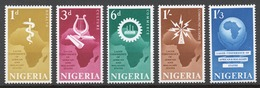 Nigeria 1962 Mi# 114-18** CONFERENCE OF HEADS OF STATE OF AFRICAN AND MALAGASY GOVERNMENTS - Nigeria (1961-...)