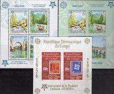 CEPT 2005 CONGO Block 249B+Bosnien-Mostar Blocks 13A+B ** 90€ Hojita Blocs Stamps On Stamp Map Sheets M/s Bf EUROPA - Europa-CEPT