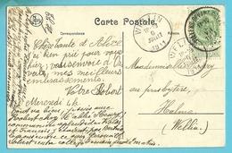 83 Op Kaart (VIRTON) Met Stempel VILLERS-DEVANT-ORVAL (28mm) - 1893-1907 Coat Of Arms
