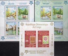 CEPT 2005 CONGO Block 251B+Bosnien-Mostar Blocks 13A+B ** 90€ Hojita Blocs Stamps On Stamp Map Sheets M/s Bf EUROPA - Europa-CEPT