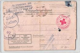 11925 01 KRIEGSGEFANGENENPOST ITALIAN PRISONER STALAG TO MESAGNE - RED CROSS - CENSORED US ARMY - Allemagne