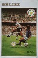 Belize 1982 World Cup Soccer Championship S/S  Scott B7 - Belize (1973-...)