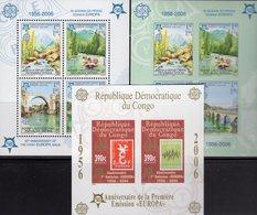 CEPT 2005 CONGO Block 253B+Bosnien-Mostar Blocks 13A+B ** 90€ Hojita Blocs Stamps On Stamp Map Sheets M/s Bf EUROPA - Europa-CEPT