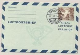 Berlin - 1952 - 60pf Luftpostbrief - Luftpost Aus Berlin - Cancelled Not Sent - Aerogramme - Non Classés