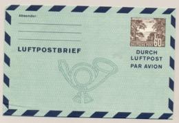Berlin - 1952 - 60pf Luftpostbrief - Luftpost Aus Berlin - Unused - Aerogramme - Non Classés