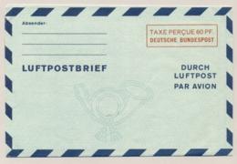 Deutschland - 1949 - 60pf Luftpostbrief - Taxe Percue 60 PF - Unused - Aerogramme - [7] République Fédérale