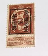 1913 - 2c Antwerpen - Vorfrankiert