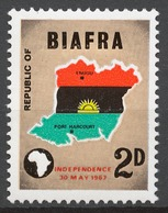 Nigeria / Biafra 1968 Mi# 1** INDEPENDENCE - Nigeria (1961-...)