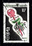 DAHOMEY 243° 10f Vert-noir, Vert Et Rose Scoutisme Emblème. (10% De La Cote + 015) - Benin - Dahomey (1960-...)
