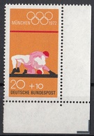 Germania 1972 Sc. B485 XX Olimpiade Monaco Lotta Wrestling Anelli Olimpici MNH - Lotta