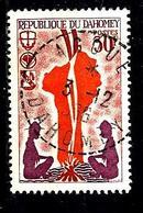 DAHOMEY 244° 30f Carmin, Vermillon Et Violet Scoutisme Feu De Camp. (10% De La Cote + 015) - Benin - Dahomey (1960-...)