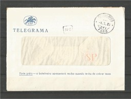 "Portugal Algarve Telegrama Faro Marca De Dia Telégrafos ""Tipo 1944"" Telegraphs Télégraphes Telegram Telegramma Telegramm - Briefe U. Dokumente"