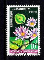 DAHOMEY 249° 10f Fleurs Nymphaea Micrantha. (10% De La Cote + 015) - Benin - Dahomey (1960-...)