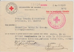 ESPAÑA 1938 CRUZ ROJA  FICHA DE INVESTIGACION   ELA 85 - Croix-Rouge