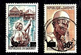 DAHOMEY 253/254° Timbres De 1963 Surchargés. (10% De La Cote + 015) - Bénin – Dahomey (1960-...)