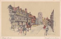 Postcard High Street Stratford On Avon My Ref  B12612 - Stratford Upon Avon