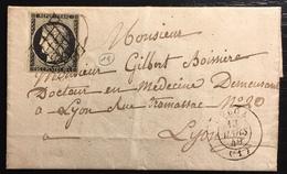 1849 /1850 Céres N°3a 20c Noir/blanc Oblitéré 13 Mars 1849 Grille + Dateur Type 15 De Culoz TTB - Marcophilie (Lettres)