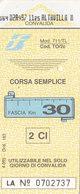 FERROVIE DELLO STATO /  Biglietto Corsa Semplice _ Fascia Km 30 - Treni