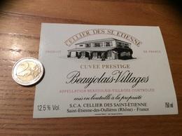 Etiquette Vin «BEAUJOLAIS VILLAGES -  CELLIER DES ST ÉTIENNE - Saint-Etienne-des-Oullières (69)» - Beaujolais