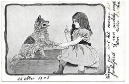 Illustrateur - Xavier Sager - Fille Avec Chien, Mädchen Mit Hund, Girl With Dog, Spitz, Keeshond, Keeshound / 1903 - Sager, Xavier