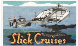 Postcard Slick Cruises Sinking Oil Tanker A Dodo Doomsday Card My Ref  B12613 - Satiriques