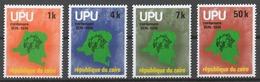 Zaire 1976 Mi# 532-35** UPU, CENTENARY - Zaïre