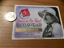 Etiquette Vin «BEAUJOLAIS VILLAGES - Domaine Du Père Chavel - CUVÉE PRESTIGE - Saint-Etienne-des-Oullières (69)» - Beaujolais